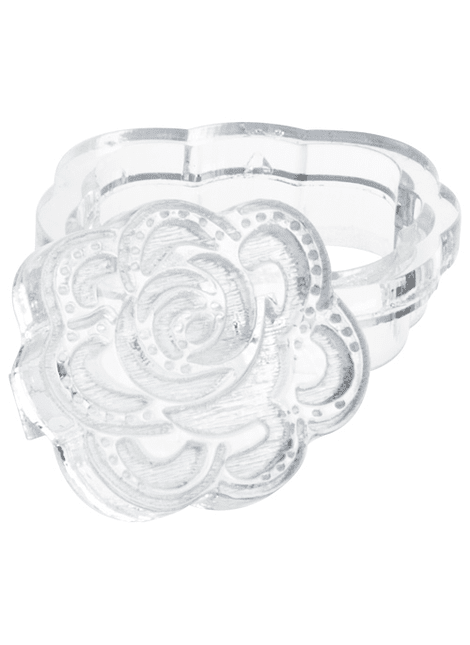 Sello cortador de Fondant en acrílico con forma de Rosas