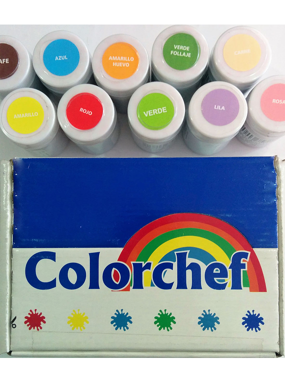 Color en pasta Colorchef 50g Naranja