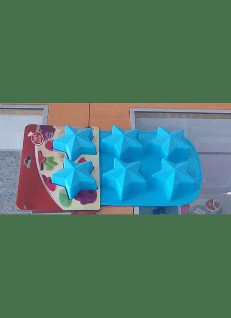Molde de silicón con formas de estrellas