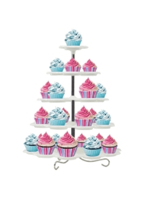 Base para pastelitos 5 niveles blanca Alegría