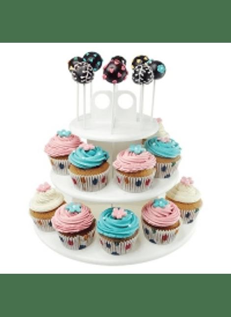 Base para paletas y pastelitos 3 niveles