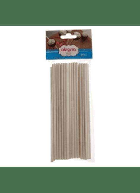 Popotes Blancos 20 cm / 50 Pzas 4-1214