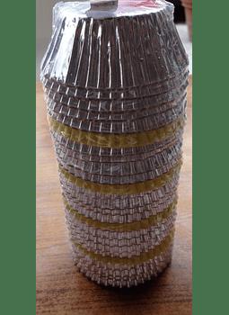 Capacillos plata metálico Alegría