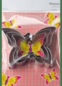 Cortador para galleta con forma de Mariposa varios tamaños