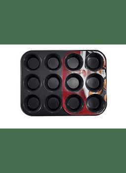 Molde Muffin 12 cav (7X3 cm) 34X26X3 cm 1-121