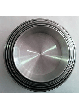 Molde de aluminio redondo 24.5 cm
