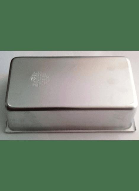 Molde para panqué rectangular 12x22x7 cm