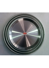 Charola redonda de 30 cm de diámetro
