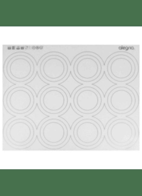 Tapete silicón p/macarons (marcas grande) 7-0029