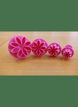 Jgo cortador eyector flor 8 pétalos 4 pz 63-087