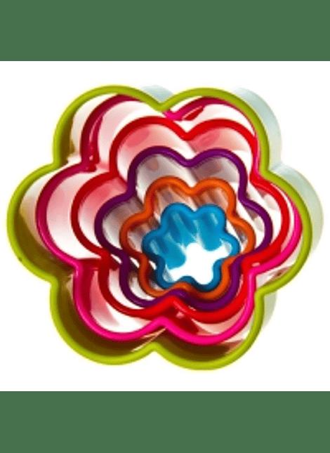 Set cortador/galleta flor 6pz 4-1132