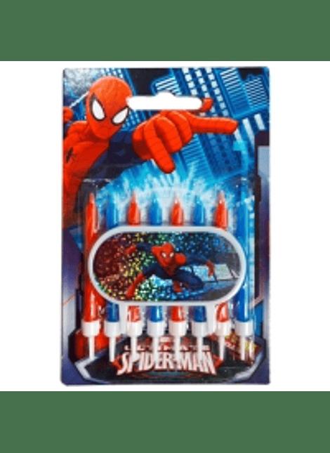 Juego Velas y placa Decoracióno Spider man