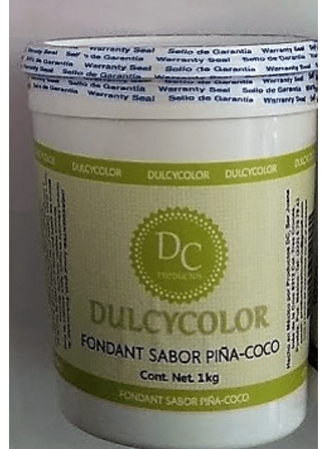 Fondant Dulcycolor Sabor Piña Coco 1 Kg