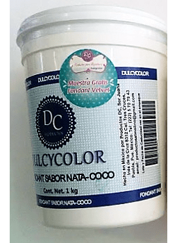 Fondant Sabor Nata Coco Dulcycolor 1 Kg