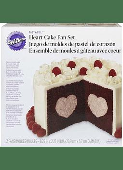 Set de Moldes p/pastel fig heart 300291