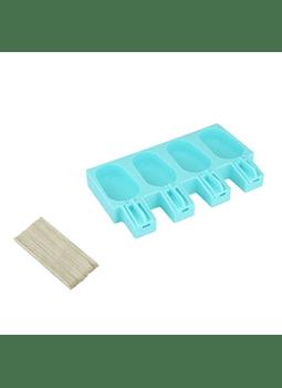 Molde de silicón para paleta clásica 4 cav