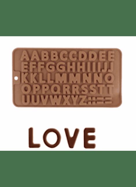Molde de silicón abecedario