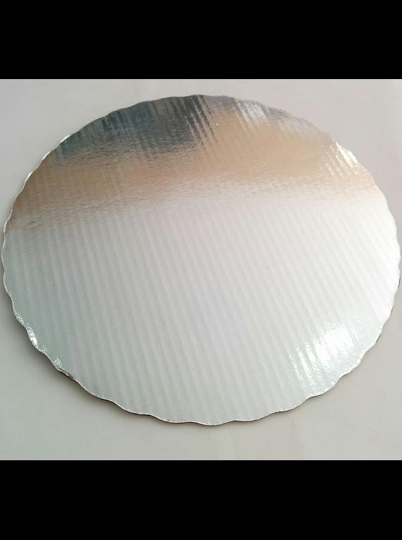 Base plateada 28 cm de cartón BP28
