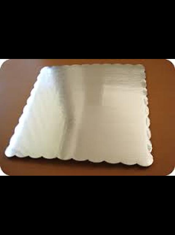 Base plateada rectangular 35X47