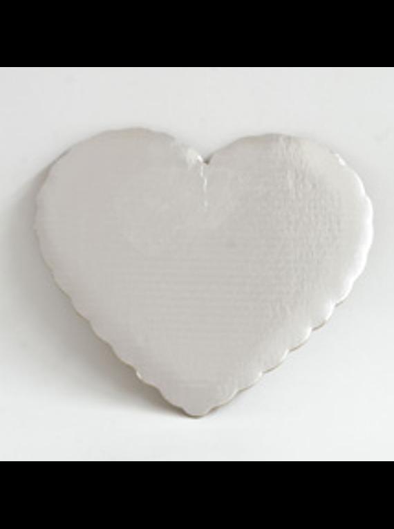 Base plateada corazón 32cm