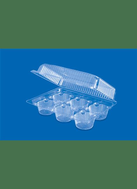 Bisagra de PS/T M2416 para 6 cupcakes
