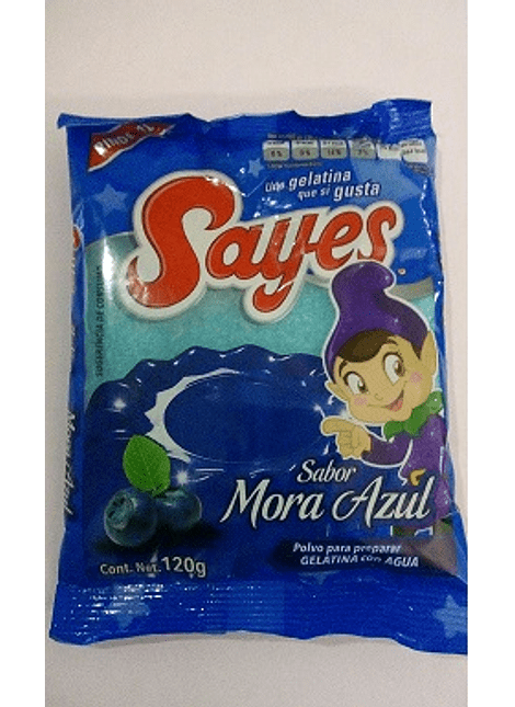 GELATINA SAYES MORA AZUL 170GR