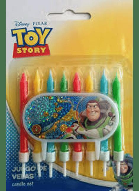 Velas y placa Decoracióno Toy Story