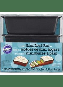 Juego molde panqué c/3 5 3/4 X 3 X 2 ANT 2105-1425