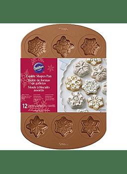 Molde galletas copo de nieve 12 cav 2105-2502