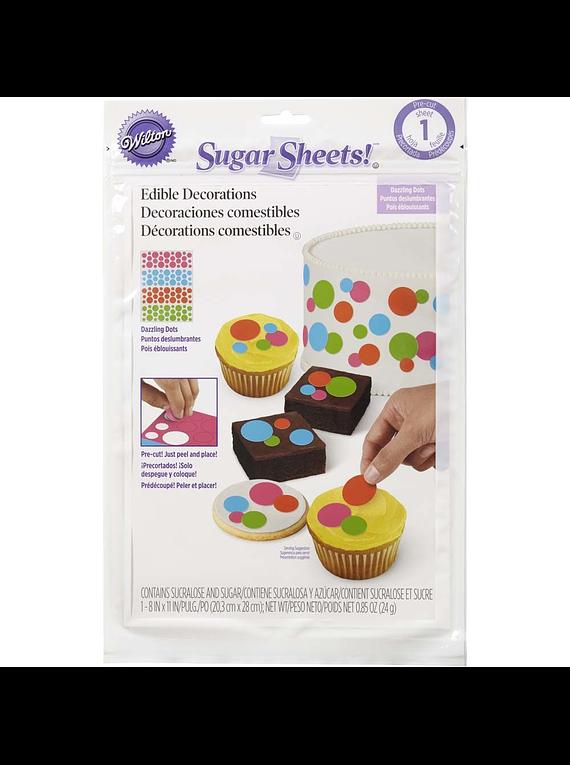 Sugar sheet 4 colores Wilton 710-2930
