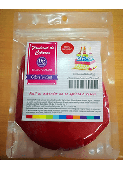 Fondant natural 165g rojo navidad