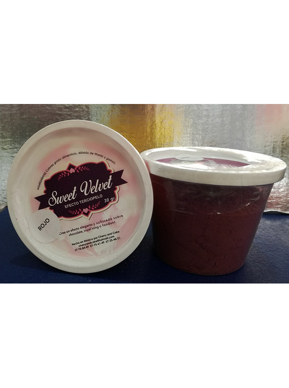 Sweet Velvet 50 gr rojo