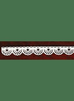 Encaje Azucar 35.2x1.4 cm ENAZ17