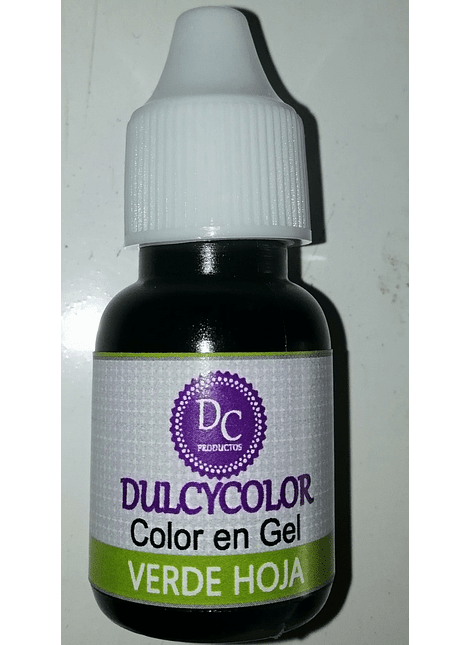 Color Vegetal Dulcycolor Verde Hoja 10 ml