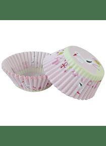 Capacillo std cigüeña rosa 100 pz 4-2318