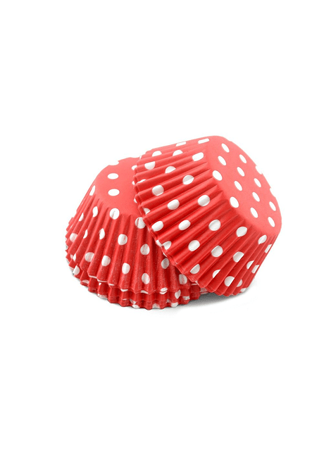 ALE Capacillo polka dot rojo 100pzas 4-2702