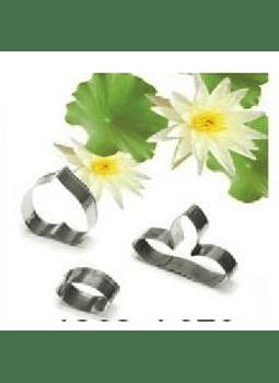 Cortador flor de loto metal 3 pz A338