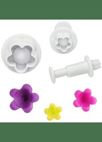 Cortador eyector flor 3 pzas 63-055