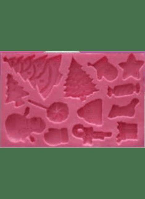 CAC Molde de silicón Navidad arboles y dec MSC680