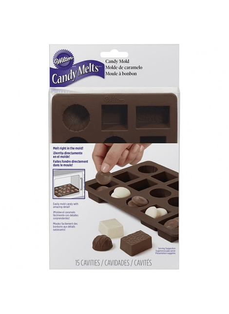 WIL Molde Caramelo circulo cuadrado rectangulo 2115-8515