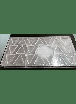ALE M choco PC triángulo 21 cav 27x13 cm TOL00000068