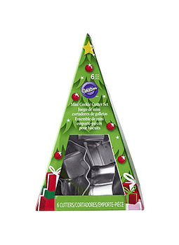 WIL Juego cortadores mini navideño en arbol c/6 2308-8926