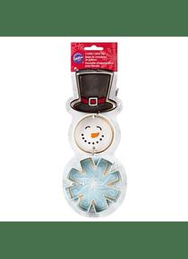 WIL  Juego cortador muñeco de nieve, gorro, copo c/3 2308-5072