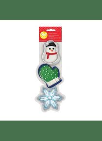 WIL Juego cortador guante, copo y mono de nieve metal 2308-7568