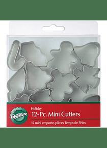 WIL Juego cortador mini navideño en caja c/12 2308-1250