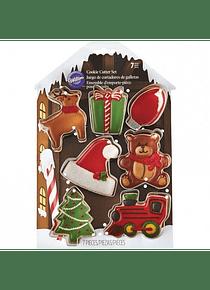 WIL Juego cortador mini navideño fabrica santa 2308-8930