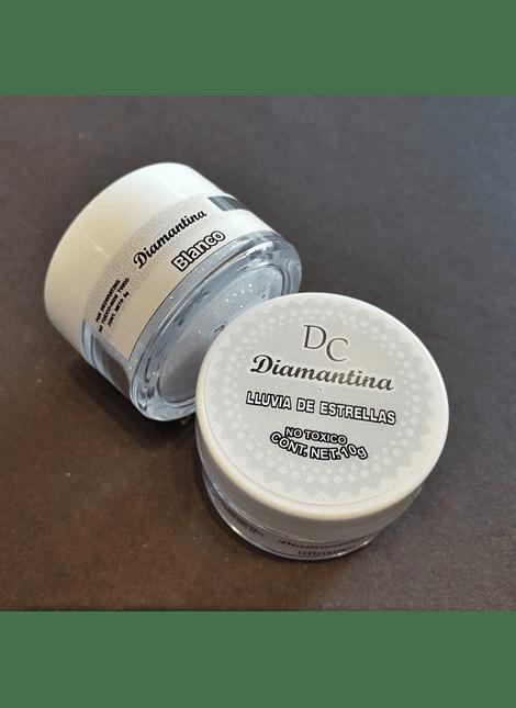 Diamantina Dulcycolor tarro de 10 gr blanco tornasol
