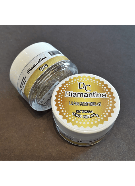 Diamantina Dulcycolor tarro de 10 gr oro