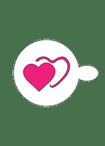 Estencil Doble Corazón  S04