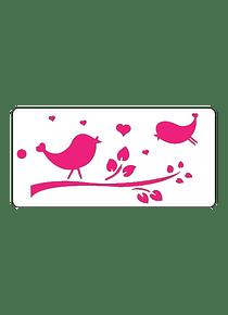 Estencil Pájaros enamorados S106
